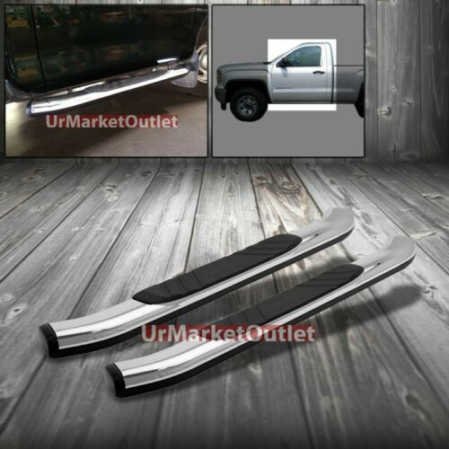 "Chrome 45 Degree Bend 5/"" Wide Step Running Board For 88-98 K1500 Standard Cab"