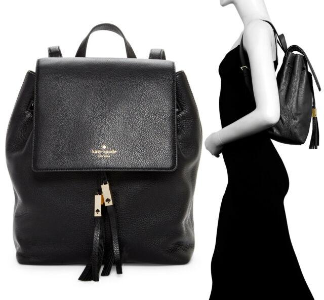 bottom price shop for best new cheap Kate Spade New York Grey Street Wilder Leather Backpack Bag Black