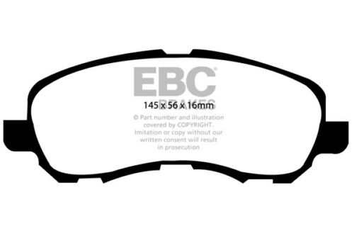 EBC Ultimax Front Brake Pads for Mitsubishi ASX 1.8 TD 2012 /> 16