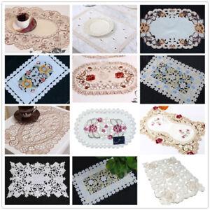 Mesa-De-Cocina-Comedor-Mantel-Bordado-Floral-Encaje-Tapete-Mantel-Individual-30x45cm