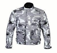 CAMO Mens Camouflage Waterproof Motorbike Bike Textile Motorcycle Jacket Armours