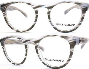 Dolce-amp-Gabbana-Brillenfassung-DG3051-3050-49mm-gestreift-grau-transparent-170-42