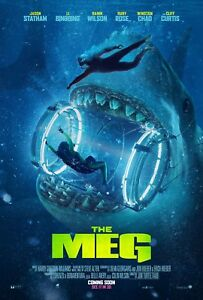 """3 Sizes Movie Poster 2018 /""""The Meg/"""" With Jason Stathom Full Color Glossy"""