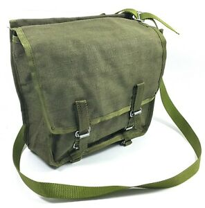 Details about VINTAGE MILITARY CANVAS SHOULDER BAG SURPLUS OD GREEN POUCH  BACKPACK POLISH ARMY