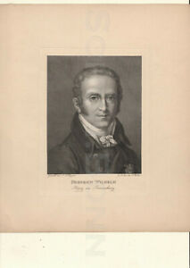Kupferstich-um-1815-Portrait-Friedrich-Wilhelm-Herzog-von-Braunschweig-F-Mueller