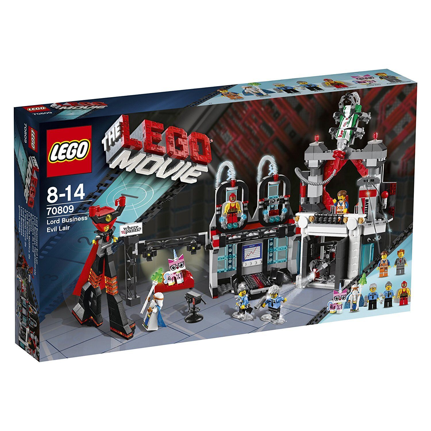 Lego Movie 70809 Lord bussines onda lair Vitruvius Ma Pa Cop Bizniz Kitty NISB