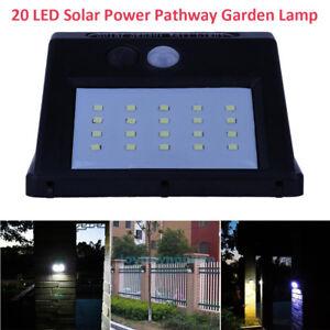 Solarleuchte-Wandleuchte-20-LED-Gartenlampe-Lichtsensor-Bewegungsmelder-Licht