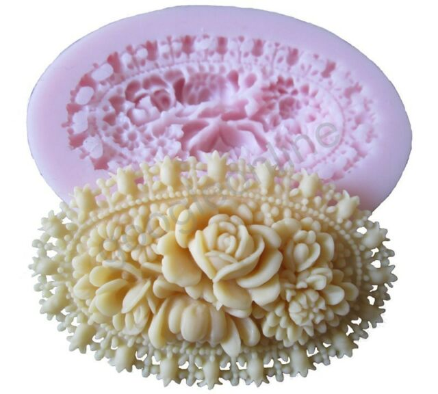 Flower CameSilicone Mold For Fondant Cake Chocolate Decorating Candy Clay Crafts