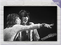 ' Rolling Stones Mick Jagger & Keith Richards '  UK Band Music Canvas Print