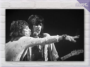 039-Rolling-Stones-Mick-Jagger-amp-Keith-Richards-039-UK-Band-Music-Canvas-Print