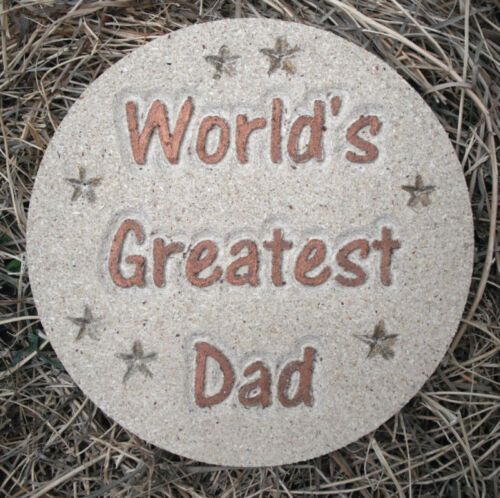 "Dad plastic mold Father/'s Day mould  10/"" x 3//4/"" thick plaster concrete mould"