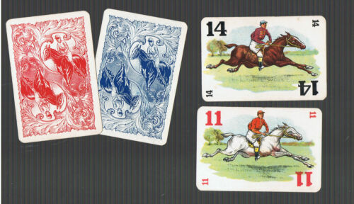 Swap Playing Cards 4  VINT  ENG  DERBY  RACE   RACE  HORSES  ER42  UNIQUE