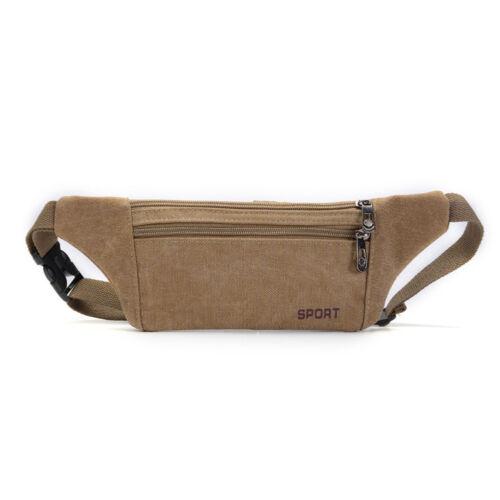 Men PU Leather Canvas Sling Chest Bag Anti-thief Hip Belt Fanny Pack Waist Purse
