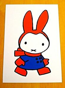 039-WITH-LOVE-FROM-MIFFY-039-POSTCARD-MIFFY-GOES-FOR-A-WALK-1963-DICK-BRUNA-NEW
