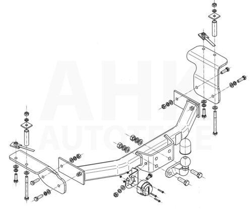 AHK Kpl. SsangYong Actyon Sports 2//4WD 08-12 Anhängerkupplung starr+ES 13p spez