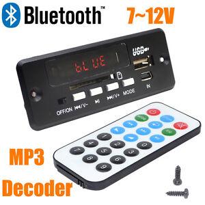 New 7-12V USB SD card Car Handsfree stereo Bluetooth MP3 Decode Board Module+FM