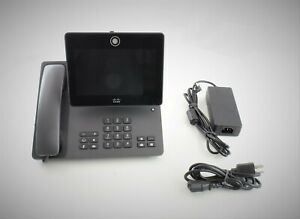 Cisco-CP-DX650-VoIP-IP-Touchscreen-Conferencing-Phone-w-Handset-Stand-amp-PS