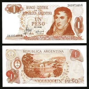ARGENTINA 1 Peso, 1970, P-287, UNC World Currency