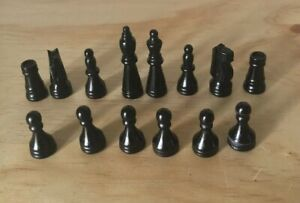 Chess-Replacement-Pieces-Black-Game-Parts-Plastic-Not-Complete