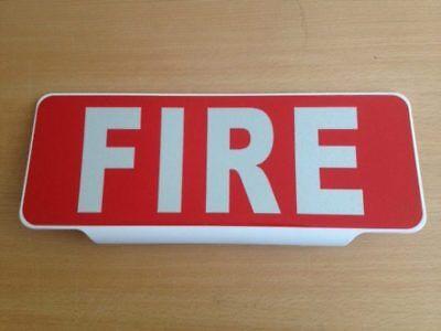 LED Univisor FIRE Mirror Text Sign visor illuminate Fighter On Call Retained 12v
