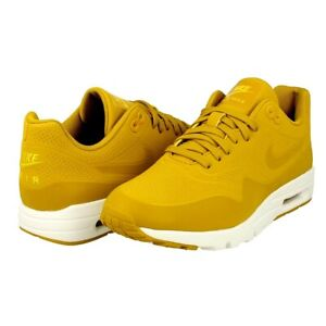 Details about Nike Air Max 1 Ultra Moire Women's Mustard Yellow Shoes Size 7.5