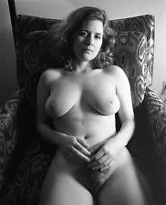 8x10 Fine Art NUDE print female model naked Black & White photograph. Signed!!