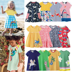 f226703982f8 Mini Boden Girls Summer Striped Dress Casual Party Sundress Clothes ...