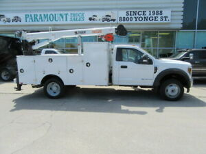 2018 Ford F 550 DIESEL 4X4 NEW 11 FT SERVICE BODY / CRANE COMBO