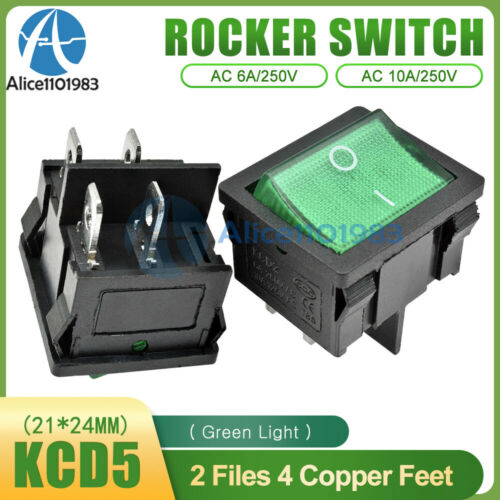 KCD5 4//6 PIN 2//3 Position 6A//250V ON//OFF Rocker Boatlike Switch Terminals Toggle