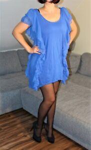 Blaues Kleid mit Rüschen in L von H&M | eBay