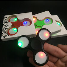 LED Light Fidget Tri-Spinner Focus ADHD Finger Ball For Kids Adult Desk Toys
