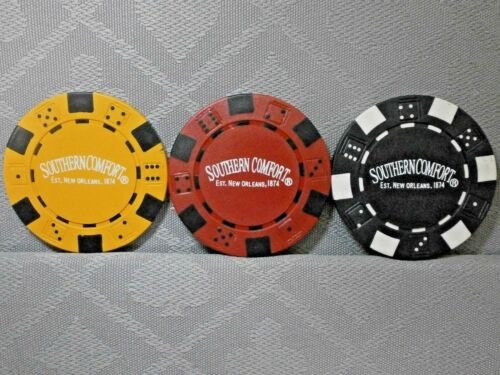SOUTHERN COMFORT POKER//CASINO CHIPS /& CARD GUARD//PROTECTORS