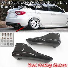 08-14 Impreza WRX STi 5dr CS Style Bottom Line Rear Bumper Aprons (Carbon)