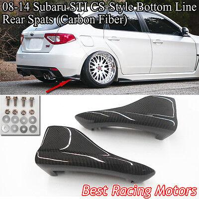 Carbon Fiber Rear Bumper Caps Aprons for 08-14 Subaru Impreza WRX STI 5-dr Wagon