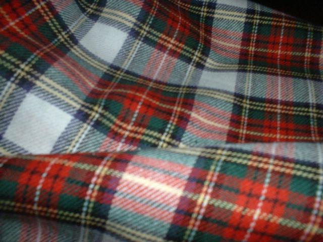 "100% Brushed Cotton Soft Tartan Fabric - 150cm (59"") wide- 4 Styles inc Stewart."