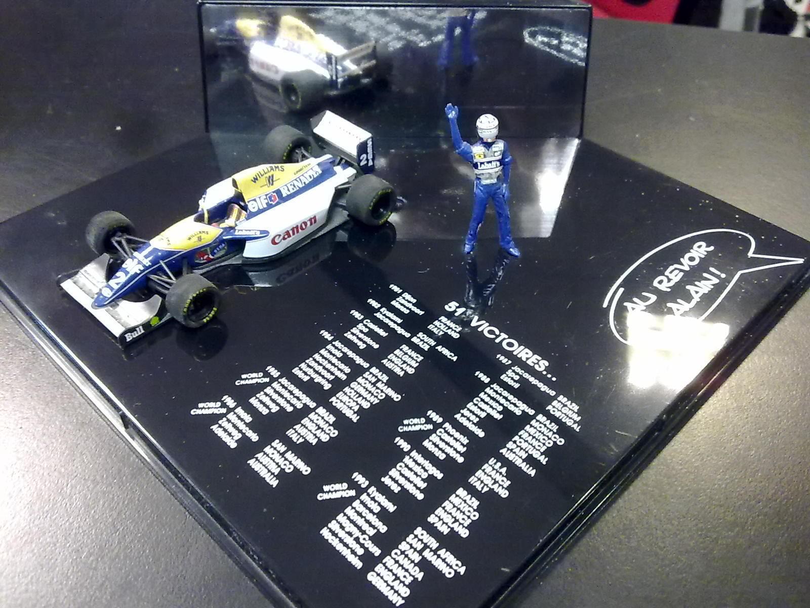 Au revoir Alain, Williams Renault FW15C 1993 1 43  2 Alain Prost, 51 Victoires