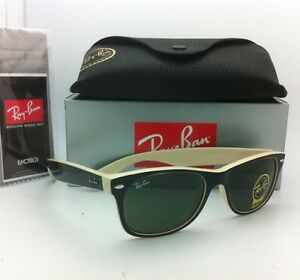 dce1706b383 Ray-Ban Sunglasses RB 2132 875 55-18 NEW WAYFARER Black   Beige w ...