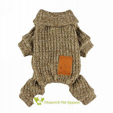 """Fitwarm 14""""Chest Turtleneck Thermal Dog Clothes Sweater Small Pet Coat Jumpsuit"""