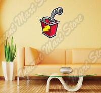Gas Can Gasoline Petrol Station Cartoon Wall Sticker Interior Decor 20x25