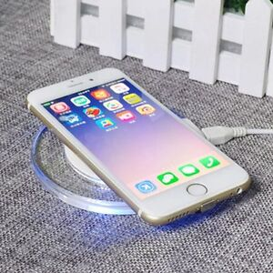 brand new 448a4 e1f9e Details about NEW QI Wireless Charging Receiver Charger Gel Back Case For  iPhone 6 6s plus