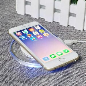 the best attitude 24807 642a6 Details about Black&white Qi Wireless Charging Pad Mat Cable +Receiver For  iphone 6 Plus 6S 5S