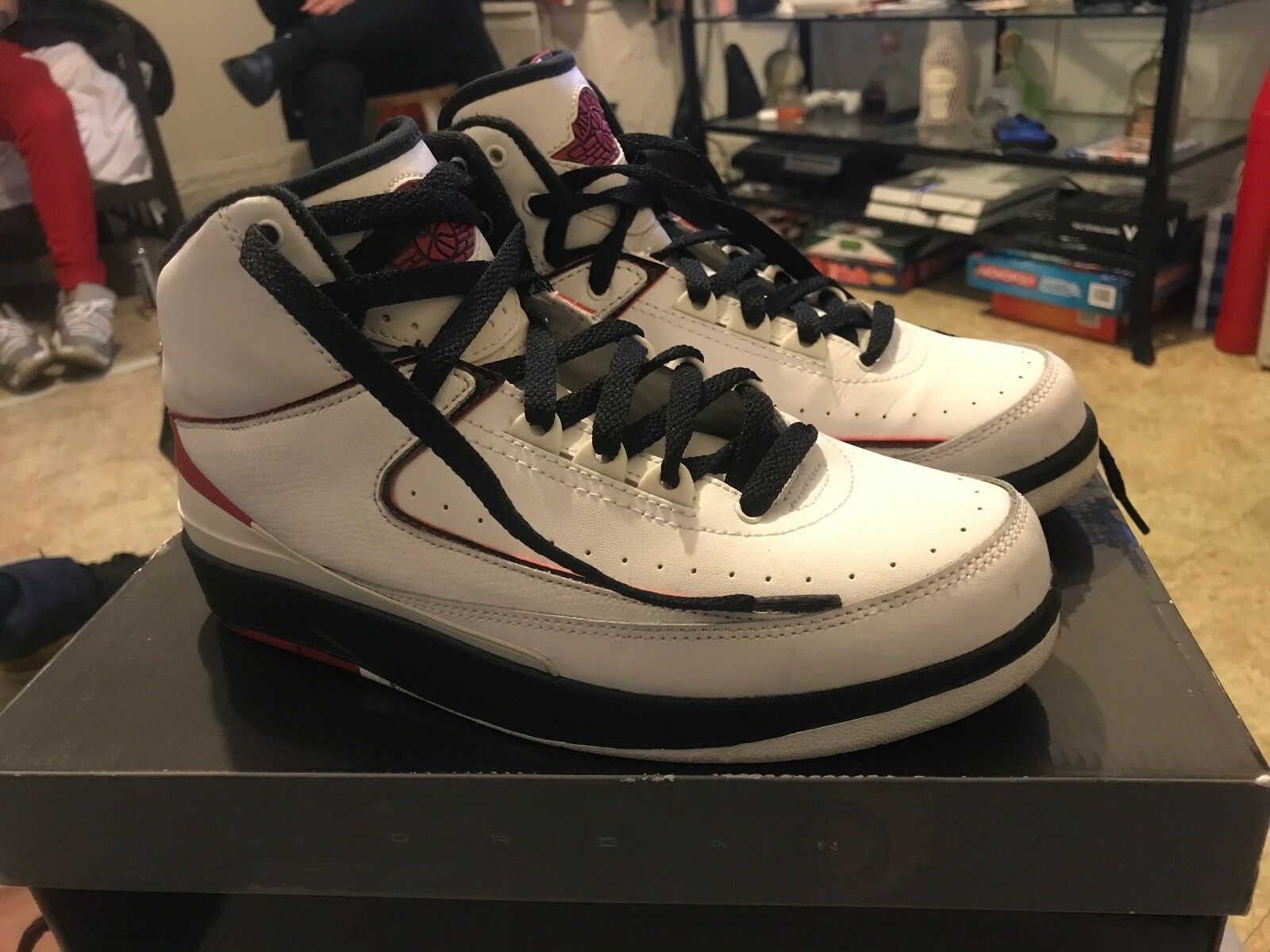 Nike Air Jordan Retro 2 Bred Brand New DS Size 7