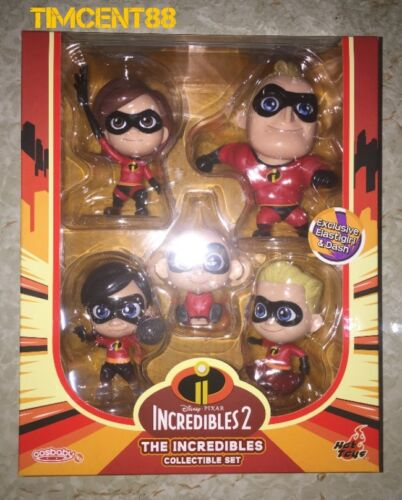 Hot Toys COSB480 The Incredibles 2 Cosbaby Box Set of 5 New Ready