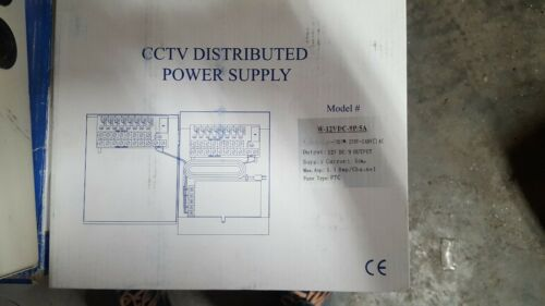 CCTV Camera Distributed Power Supply W-12VDC-9P//5A NEW OPEN BOX FREE SHIPPING