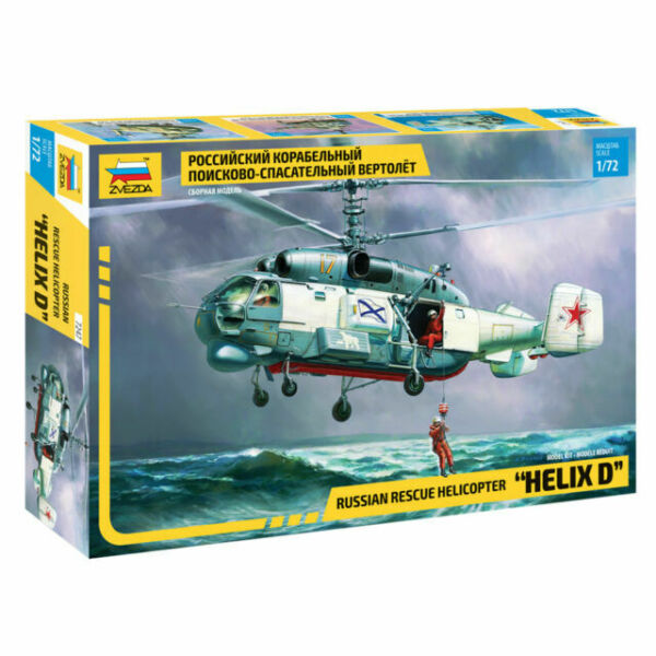 Russian maritime search and rescue helicopter Scale 1//72 model kit ZVEZDA 7247