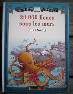 Livre-Roman-20000-LIEUES-SOUS-LES-MERS-de-Jules-VERNE-Collection-Rouge-amp-Or