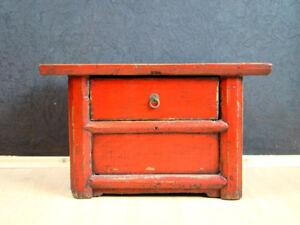 Antik-Tisch-Teetisch-Rot-Beistelltisch-Asiatika-Moebel-hh02m86