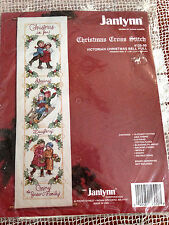 JANLYNN VICTORIAN CHRISTMAS BELL PULL COUNTED CROSS STITCH KIT NIP 6 X 22