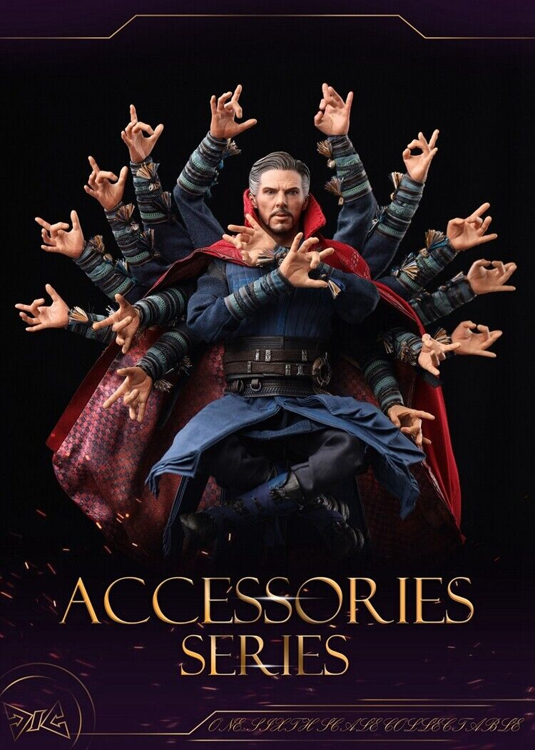 DJ-CUSTOM 1 6 Avengers Infinity War 14Pcs Doctor Strange Arms Model F 12  HT Toy