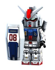 Custom Gundam Mecha Minifigure RX79